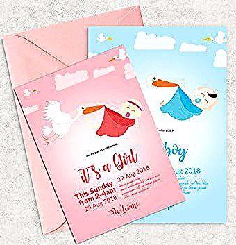 مولود جديد Baptismadoption طفل طفل دش دعوة عيد ميلاد أزرق بطاقة احتفال الأطفال لطيف بنت عائلة في السنة الأولى من العمر فتاة محب أطفال إضا Book Cover Grrl Books
