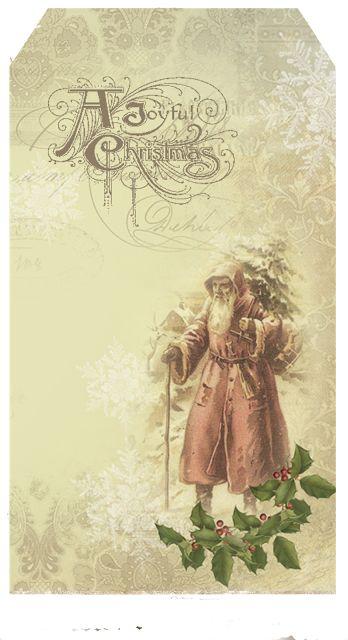 Printable Christmas Gift Christmas Tags Digital Paper Tags Delivery Tags Santa Tags Naughty Tags Shabby ChicVD0565 Christmas Clip Art