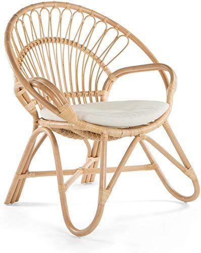 Amazing Offer On Kouboo 1110016 Armchair Round Rattan Loop Armhair Seat Cushion Natural Color Large Online Favoritetopfashion Rattan Armchair Papasan Chair Wood Chair