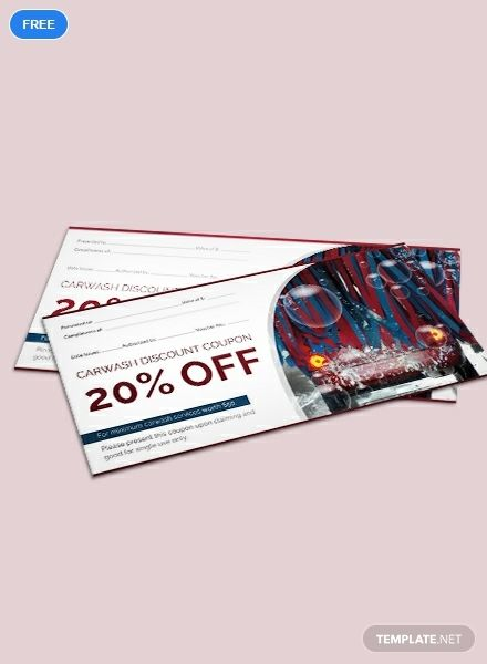 Car Wash Discount Voucher Template Free Jpg Illustrator Indesign Word Apple Pages Psd Publisher Template Net Voucher Design Car Wash Voucher Template Free