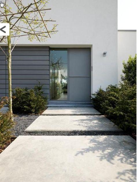 voortuin ideeën met oprit beton - Google zoeken Driveway - garageneinfahrt am hang