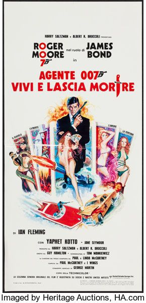 Movie Posters James Bond Live And Let Die United Artists 1973