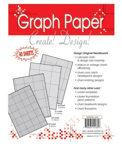 Graph Paper in 10, 11, 14, and 18 count Create your own designs - graph paper template