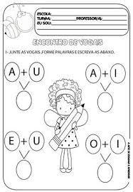 Atividades Encontros Vocalicos Ed Infantil Pesquisa Google