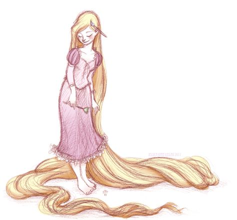 lovely sketch of rapunzel