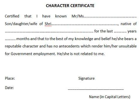 4 Character Certificates Certificate Format Certificate Good