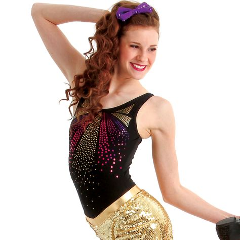 07a62a305cb272 Cascade sequins add excitement and drama to this classic tank leotard!