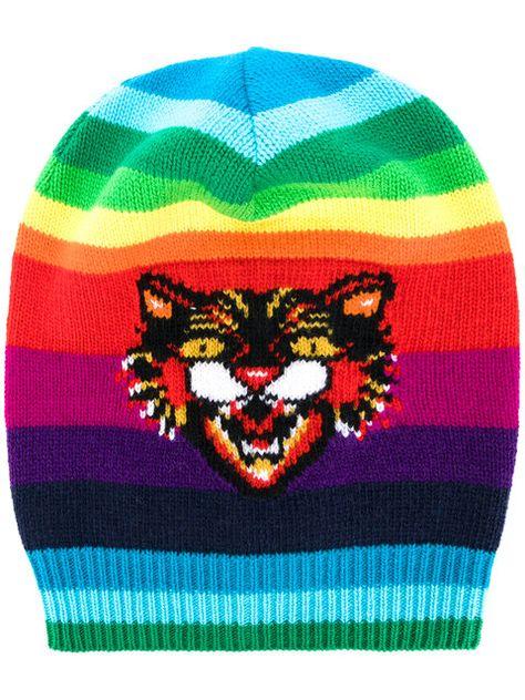 GUCCI GG Angry Cat rainbow beanie.  gucci  beanie  bf8c9071dedb