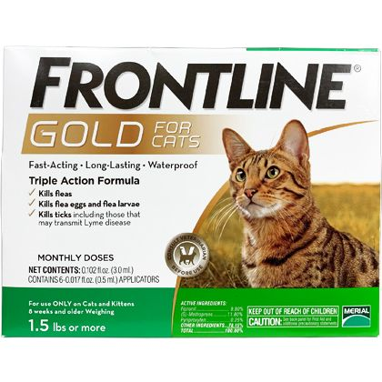 Frontline Gold Flea And Tick Prevention 1800petmeds Cats And