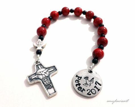 Unique Confirmation Gift, Catholic Rosary, Confirmation Gift for Boys, Confirmation Rosary, Personalized