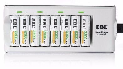 Ebl 2300mah Ni Mh Rechargeable Aa Batteries 8 Pieces Rechargeable Batteries Smart Charger Charger
