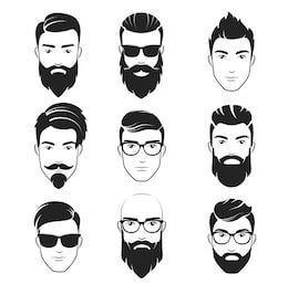Frisur Fur Frauen Und Manner Frisur Frauen Manner Haar Frauen Frisur Fur Haar Manner Und Hipster Barte Mannliche Gesichter Hipster Mann