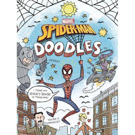 Spider Man Doodles Walmart Com Doodle Books Doodle Coloring Doodle Pages