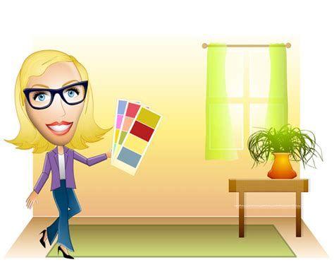 Cartoon Interior Decorator In 2020 Interior Decorating Famous