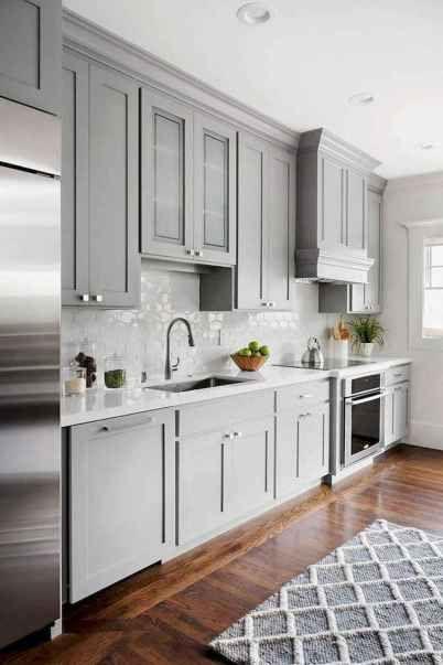 01 Incredible Farmhouse Gray Kitchen Cabinet Design Ideas In 2020
