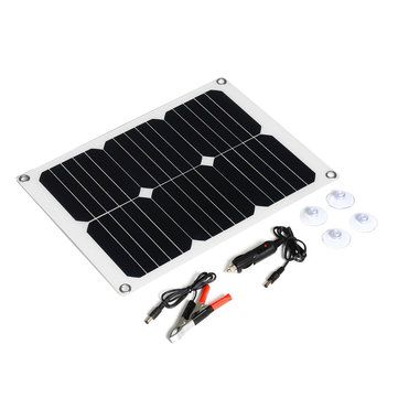 3 042 32 15w Monocrystalline Solar Panel Dual Usb Output Solar Powered Panel With Charger Battery Clip E Solar Panels Monocrystalline Solar Panels Solar Power