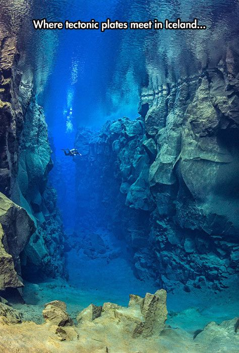 Funny pictures about Gigantic Tectonic Plates Under The Sea. Oh, and cool pics about Gigantic Tectonic Plates Under The Sea. Also, Gigantic Tectonic Plates Under The Sea photos. Oh The Places You'll Go, Cool Places To Visit, Places To Travel, Tectonique Des Plaques, Underwater Photography, Adventure Is Out There, Scuba Diving, Cave Diving, Belle Photo