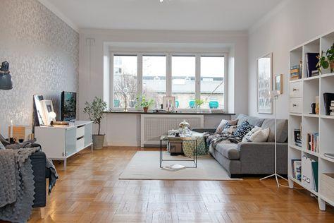 decorar con papel de pared decoración nórdica escandinava decoración nordica en colores atemporales decoración interiorismo nórdico decoraci...