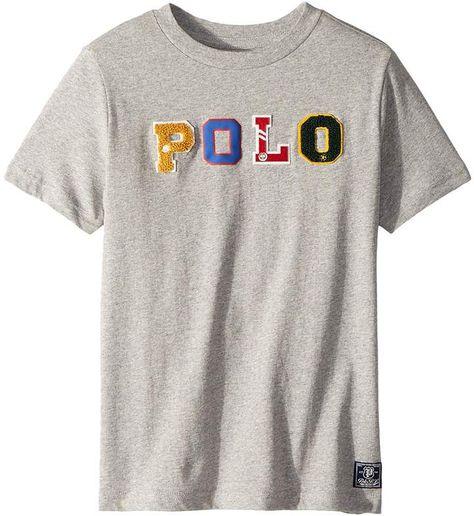91d48490 Polo Ralph Lauren Cotton Jersey Graphic T-Shirt (Little Kids/Big Kids)