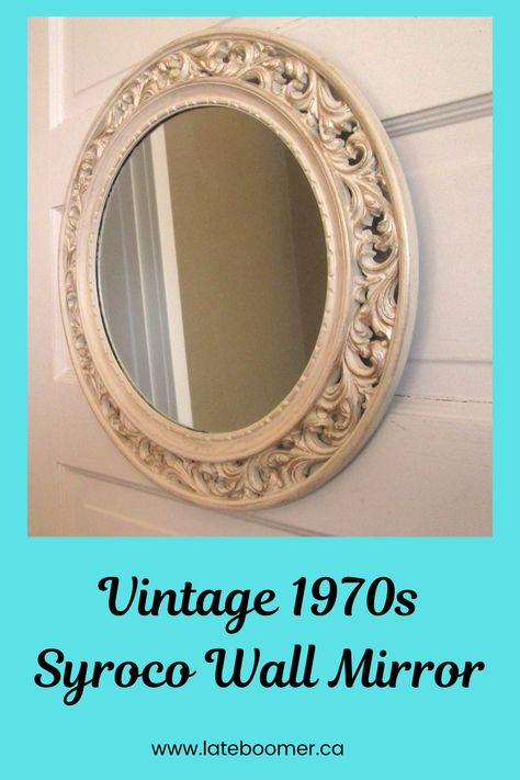 Vintage Gilded Metal Round Picture Frame with Angel