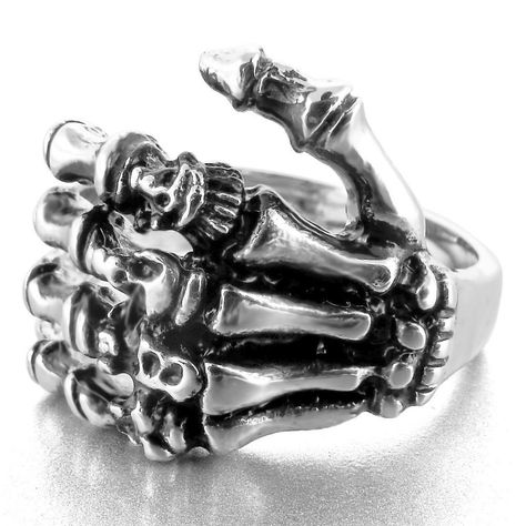 Feel The Rebel In Your Finger. Wear This Everyday And Bring Out The Skull Lover In You!! 💀 Metals Type:stainless Steel Material:metal