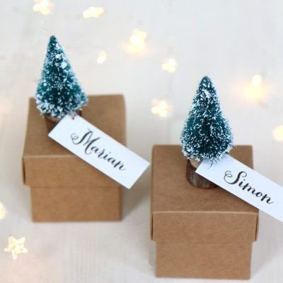 Little Personalised Christmas Tree Boxes Christmas Tree Gift Tags Christmas Gift Box Christmas Tree Box