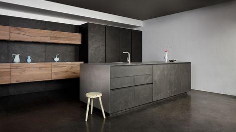 Concrete Vintage Oak German Kitchen Design Modern Kitchen Design Contemporary Kitchen