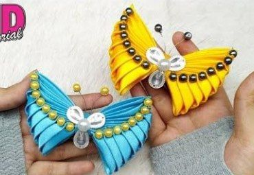 Diy Mariposas Hechas Con Lazos Como Hacer Mariposas Tutorial