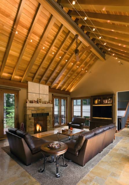 Cable Lighting For The Home Ceiling Lights Living Room Rustic Living Room Vaulted Ceiling Lighting