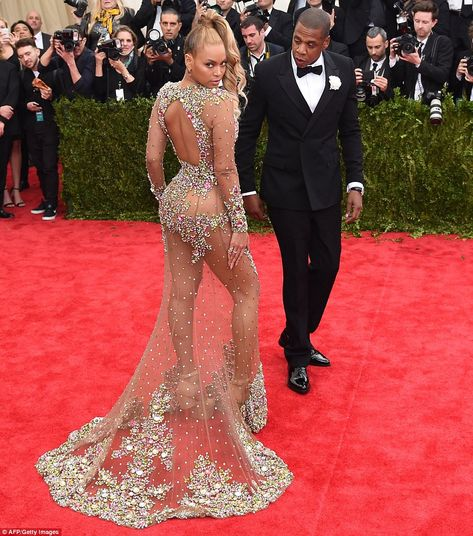 Jay Z couldn't help but stare as Beyonce worked her magic on the red carpet at the 2015 Met Gala. via MailOnline