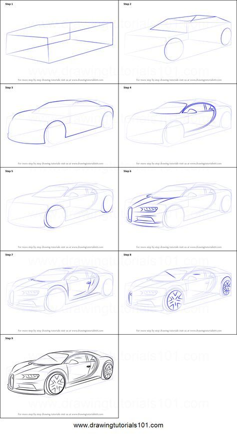 How To Draw Bugatti Chiron Printable Step By Step Drawing Sheet Drawingtutorials101 Com Car Design Sketch Drawing Sheet Car Drawing Pencil