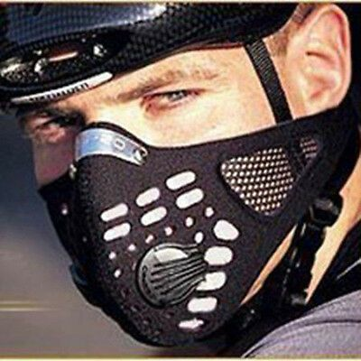 Outdoor Sports Biker Mask Gas Filter Face Protection Dust Mask Head Respirator Sports Half Face Mask Cycling Mask Purifying Face Mask
