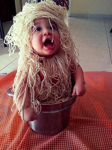Kids Halloween Costumes: Spaghetti Baby
