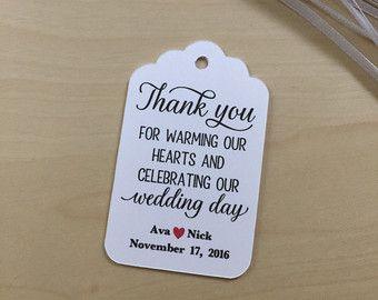 Thank You For Warming Our Hearts Favor Tags Hot Cocoa Favors Pine Cone Fire Starter Favors Candle Candle Wedding Favors Best Wedding Favors Wedding Gift Favors