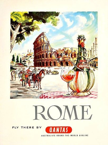 Rome Italy Retro Vintage Travel Poster Hq Quality Vintage Travel Posters Travel Posters Vintage Travel