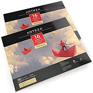 Amazon Com Canson Artist Series Montval Acrylic Pad Sized Heavyweight No Buckle Paper Fold Over 185 Pound 9 X 12 In 2020 Arteza Paper Texture How To Make Magnets