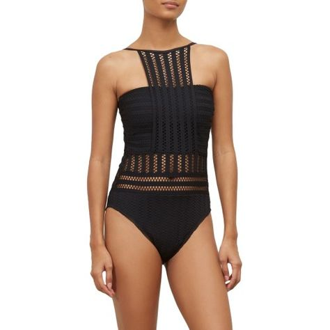 04ed765fdd Kenneth Cole New York Tough Luxe High-Neck One-Piece - Women's, Size:  Large, Black