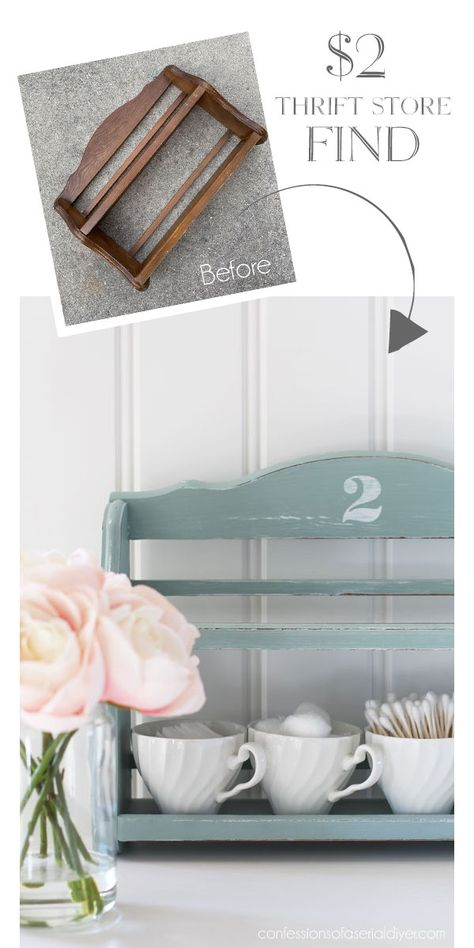 Newspaper rack in the second-hand shop of confessionsofaser… – UPCYCLING IDEAS – Thrift Store Crafts Thrift Store Furniture, Thrift Store Crafts, Repurposed Furniture, Painted Furniture, Thrift Stores, Cheap Furniture, City Furniture, Furniture Storage, Thrift Store Decorating