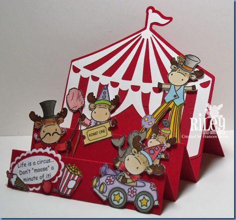 Поп ап открытка цирк