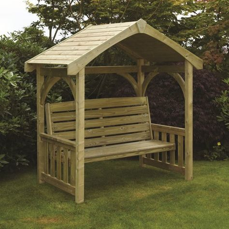 Triglav Molten Wooden Arbour Outdoor Garden Bench Garden Seating Wooden Garden Benches