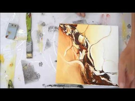 Demonstration Peinture Abstraite 29 Althea Artiste Peintre