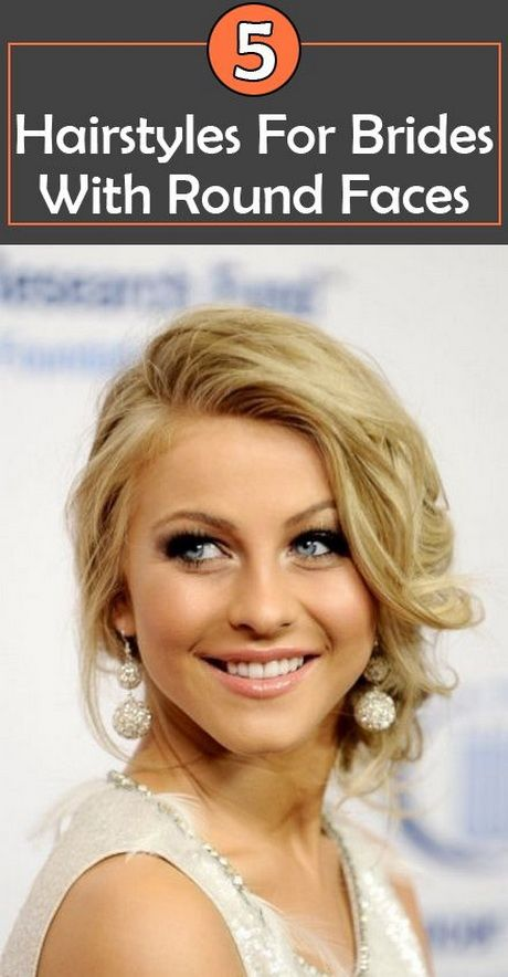 Awesome Wedding Hairstyle For Round Face To Look Slim Hairstyles For Round Faces Round Face Haircuts Bride Hairstyles