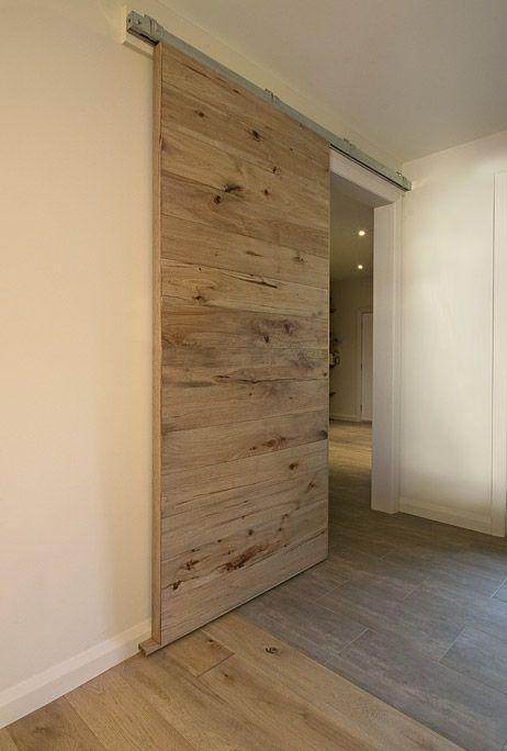 porte coulissante en bois à l\u0027intérieur ambiance intérieure moderne