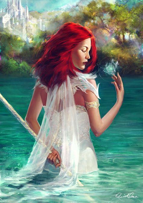 Commission: Water magic by elena-nekrasova on DeviantArt
