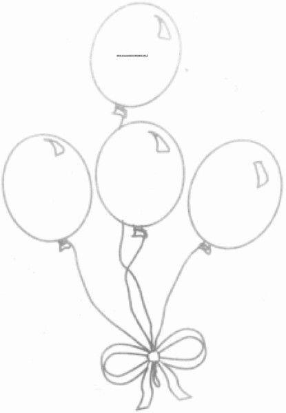 Uçan Balon Boyama Sayfaları