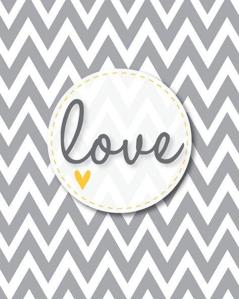 Chevron Love Printable for Valentines Day   -  #CHEVRON #Day #Love #Printable #Valentines