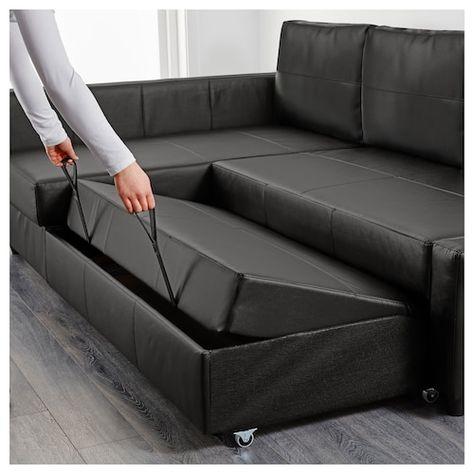 Friheten Sleeper Sectional 3 Seat W Storage Bomstad Black