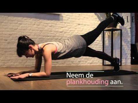 ELLE SPORT: oefeningen voor een platte buik - YouTube