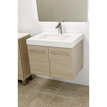 Windbay Windbay 24 Wall Mount Bathroom Vanity Sink Set Tan