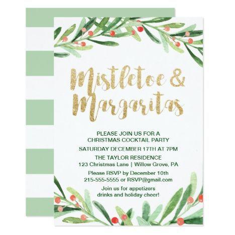 Christmas Invitation Printable Holly Jolly Mistletoe Holiday Party